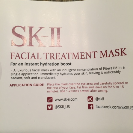 sk ii face mask instructions